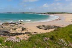 North coast of Cornwall Harlyn Bay England UK near Padstow and Newquay Stock Photo