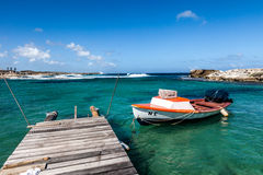 The North Coast of Curacao. Playa Kanao or surf beach Caribbean royalty free stock images