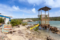 The North Coast of Curacao. Playa Kanao or surf beach Caribbean stock photos