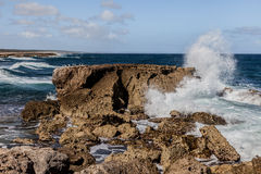 North Coast of Curacao waves royalty free stock images