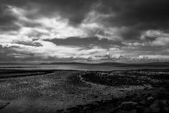 North coast of Ireland. Large empty beach on the north coast of Ireland royalty free stock image