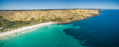 North coast of Kangaroo Island, South Australia aerial view. Stock Photography