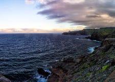 North Coast of Maui. Evening at the north coast of Maui, Hawaii, USA royalty free stock images