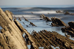 North coast of Spain. Between the towns of Zumaia and Itziar royalty free stock photo