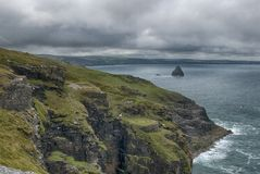 North Coast between Tintagel and Trebarwith Strand stock images