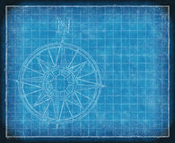 North compass map arrow bluepriint Royalty Free Stock Photography