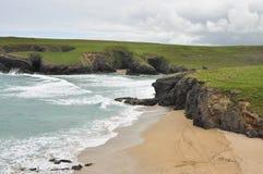 North Cornwall Atlantic coast cliffs, England, UK Stock Photography