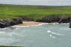North Cornwall Atlantic coast cliffs, England, UK Royalty Free Stock Photo