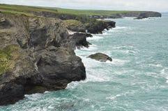 North Cornwall Atlantic coast cliffs, England, UK Royalty Free Stock Photos