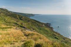 North Cornwall coast at Strangles near Crackington Haven Royalty Free Stock Image