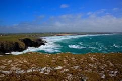 North Cornwall coast view from Trevose Head south in direction of Constantine Bay Stock Photos
