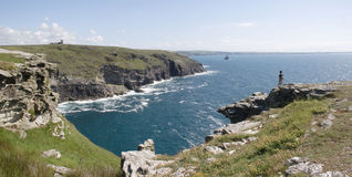 North Cornwall coastline Stock Photography