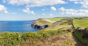 North Cornwall coastline looking Northeast from Boscastle in Eng Stock Photography
