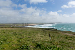 North Cornwall Trevose Head south in direction of Constantine Bay and Newquay Royalty Free Stock Photos
