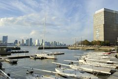 North Cove Marina, Downtown Manhattan, New York Royalty Free Stock Photos
