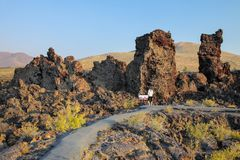 North Crater Flow Trail, Craters of the Moon National Monument, Idaho, USA royalty free stock photo