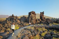 North Crater Flow Trail, Craters of the Moon National Monument, Idaho, USA stock image