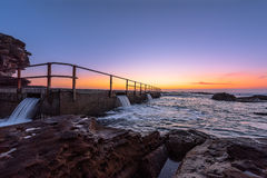 North Curl Curl Beach before sunrise. North Curl Curl, New South Wales, Australia Stock Photos