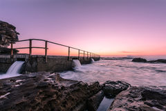 North Curl Curl Beach before sunrise. North Curl Curl, New South Wales, Australia Stock Image