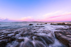 North Curl Curl Beach at sunrise. North Curl Curl, New South Wales, Australia Royalty Free Stock Photography