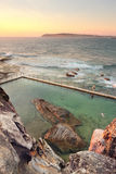 North Curl Curl Rockpool summer morning Royalty Free Stock Photo