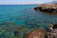 North cyprus sea. Beautiful nature is our precious property Royalty Free Stock Photos