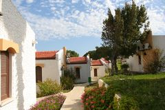 North Cyprus Village. It's a sunny day,a calm village in North Cyprus.very beautiful landscape Royalty Free Stock Photos