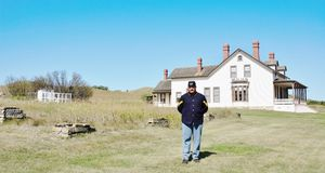 North dakota historical officers quarters Stock Photos