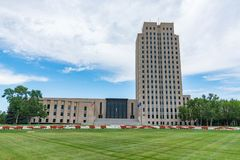 North Dakota huvudbyggnad royaltyfri bild