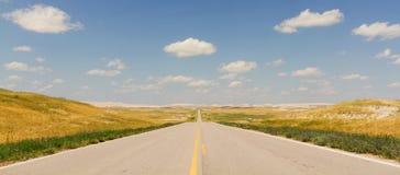 North Dakota huvudväg royaltyfri fotografi