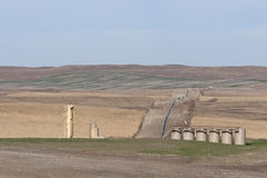 North Dakota Oil Pipeline Royalty Free Stock Photography
