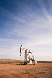 North Dakota Oil Pump Jack Fracking Crude Extraction Machine Stock Image