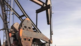 North Dakota Oil Pump Jack Fracking Crude Extraction Machine stock footage