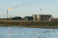 North Dakota olje- brunn arkivfoton