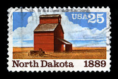 North Dakota Postage Stamp Stock Images