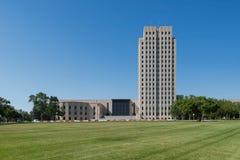 North Dakota State Capitol. Exterior of the North Dakota State Capitol on a clear summer afternoon in Bismarck, North Dakota Royalty Free Stock Image