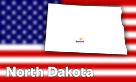 North Dakota state contour Stock Images