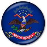 North Dakota State Flag Button Royalty Free Stock Images