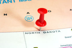North Dakota  state USA map Stock Photos