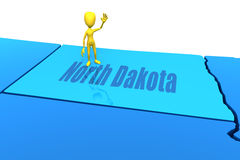 North Dakota state yellow stick figure Stock Photography