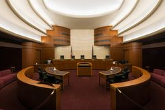 North Dakota Supreme Court. In the State Capitol in Bismarck, North Dakota royalty free stock image