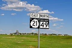 North Dakota trafiktecken statliga indiska symboler arkivfoton