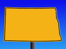 North Dakota warning sign Royalty Free Stock Photography