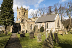 North Derbyshire Church. In summer sun Royalty Free Stock Photography