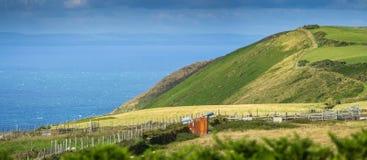 North Devon coast. Exmoor National park royalty free stock photography