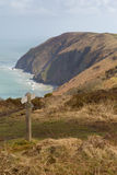 North Devon coast between Ilfracombe and Lynmouth Royalty Free Stock Photo