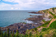 North Devon Coast near Hele Bay. During low tide. UK royalty free stock images