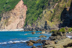 North Devon Coast near the villages of Lynton and Lynmouth Royalty Free Stock Images