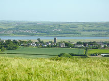 North Devon countryside. The north devon countryside looking down towards chivenor royalty free stock images