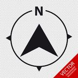 North Direction Compass Icon - Vector Graphic - Isolated On Transparent Background Royalty Free Stock Photo